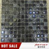 Fuentes clásicas del azulejo de mosaico del negro del estilo, mosaico de cristal para el departamento