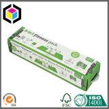 Rectángulo de empaquetado acanalado impresión reciclable del desplazamiento con la maneta plástica