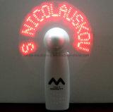 Ventilador portable publicitario de encargo del mensaje de la insignia LED (3509)