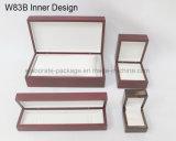 Caixa de jóia de madeira luxuosa antiga Handmade clássica