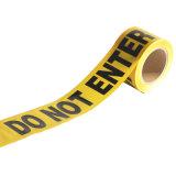 危険のためのバリケードテープはテープ注意に警告する
