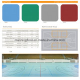 Blauw Patroon 5mm van de Bal Bevloering van pvc van de Kleur van de Dikte de Binnen Stevige voor Multifunctioneel Tennis