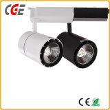 24W el Cuerpo de aluminio de 30W luz LED pista LED Spotlight AC85-265V PAR30 en el interior de la luz de la vía de la luz