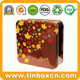 مربّعة شوكولاطة قصدير صندوق مع [فوود غرد], معدن [فوود كنتينر]