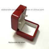 Contenitore impaccante personalizzato dei monili di anello di legno del regalo