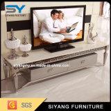 側面のキャビネットTVのキャビネットが付いているホーム家具ガラスTVの立場