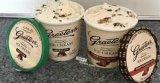 Vasos de papel para el café helado, chocolate