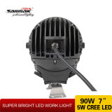 "7 "" 90W Jeep Offroad Waterproof 크리 말 LED Working Lamp"