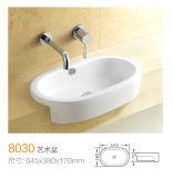 8007 Драйвер графической Semi-Counter ванной комнате керамическая раковина