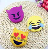 De Bank 2600mAh van de Macht van Emoji van de Eenhoorn van het Gezicht van de Schreeuw van de Glimlach van pvc van het beeldverhaal