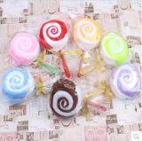 중국 호텔 테리 Microfiber 면 손 테리 존재하는 선물에 의하여 압축되는 케이크 수건