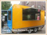Remorque mobile de café de camion de restauration de cantine de pizza de Ys-Fb390e