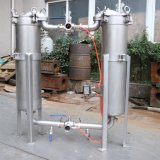 Alloggiamento del filtro a sacco dell'acciaio inossidabile, filtro a sacco duplex per filtrazione dell'acqua