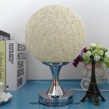 Modernes einfacher Entwurfs-Rattan-dekorative Tisch-Lampe für Schlafzimmer