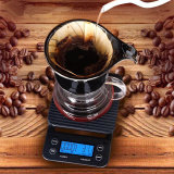 маштабы кофеего потека 3kg 0.1g электронные цифров с маштабом кухни отметчика времени