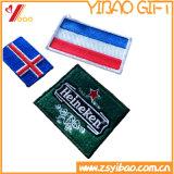 Изготовленный на заказ значок вышивки флага логоса сплетенный заплатой и заплаты вышивки (YB-pH-411)