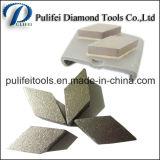 Segmento de moedura de pedra do assoalho concreto do terraço para a almofada do metal
