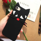 3D caixa bonito do telefone do gato TPU para o iPhone 5/6/7plus