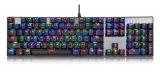 Teclado mecánico atado con alambre USB ilimitado dominante lleno del contraluz del juego colorido del modo