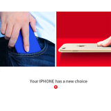iPhone 7 더하기 유화 민감한 고품질 플라스틱 상자