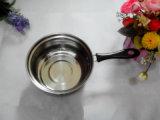 長いハンドル(YF-DBN1)が付いている0.6mmのステンレス鋼のミルクの鍋