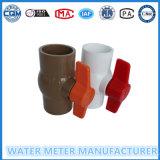 Válvula de Esfera de PVC para o gasoduto do contador de água