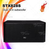 Stx828s強力なDJ装置のSubwooferの低音の大箱