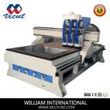 Máquina auto de la carpintería del CNC del cambiador del eje de rotación de 3 herramientas (VCT-1530ASC3)