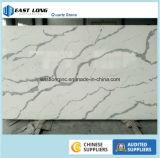 Prateleiras de quartzo de superfície sólida de mármore branco