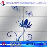 304 chapas de aço DIN1.4301 inoxidáveis pretas com PVC no laminado