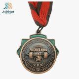 Medaglia Bronze antica di sollevamento di peso del metallo del pezzo fuso del commercio all'ingrosso 3D della fabbrica