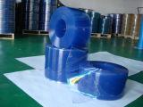 Het duidelijke, Blauwe, Gele Zachte die Blad van pvc, het Blad van het pvc- Gordijn, het Gordijn Srtipe van pvc met Materiaal van pvc van 100% het Maagdelijke wordt gemaakt