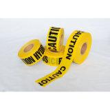 Обнаруженная желтая черная лента предосторежения маркировки пола