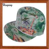 編まれたラベルが付いている方法習慣5のパネルの帽子