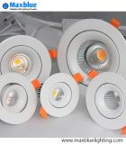 Dimmable Recessed o diodo emissor de luz do diodo emissor de luz Downlight/Dimmable da ESPIGA do teto ilumina-se para baixo