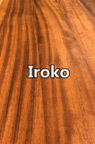 Iroko Full Lamellas Wood Kitchen Worktops Butcher Block Countertops Wood Table Tops Island Tops Finger Jointed Board