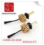 Farol 3600lm do carro do diodo emissor de luz Hb4 da geração nova 9006 da certificação de RoHS do Ce