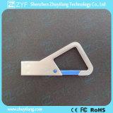 주문 로고 금속 삼각형 Carabiner 훅 8GB USB 지팡이 (ZYF1735)