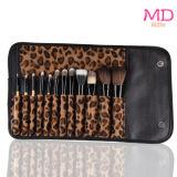 12pzas pincel de maquillaje con Leopard caso (HERRAMIENTA-113)