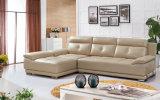 Colore crema L sofà di figura, sofà moderno, sofà di cuoio (SA25)