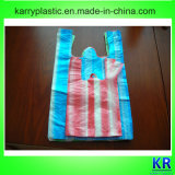 Streifen HDPE Shirt-Beutel