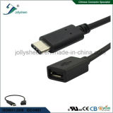 USB3.1 C Male to Micro 5p Female PVC Head No Braided Sleeve Cable Ce RoHS