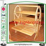 Brot-System-festes Holz-Bäckerei-Zahnstange mit drei Regalen