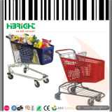 Het Kleurrijke Plastic Boodschappenwagentje van de supermarkt