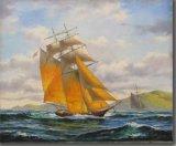 帆船の壁絵画