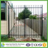 Clôture tubulaire en acier haute sécurité et conception de porte pour jardin