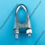 Le câble métallique DIN741 commercial saisit des clips sans cannelures