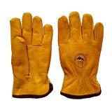 Верхний класс Cowhide зимой безопасности теплые перчатки для погрузчики