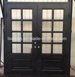 Einstiegstüren Wohn und bearbeitetes Eisen-französische Türen