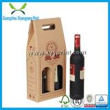 Коробка вина гофрированной бумага низкой цены изготовленный на заказ с ручкой